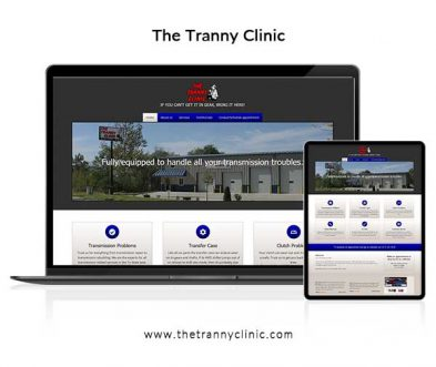 Tranny Clinic Quincy Website Design