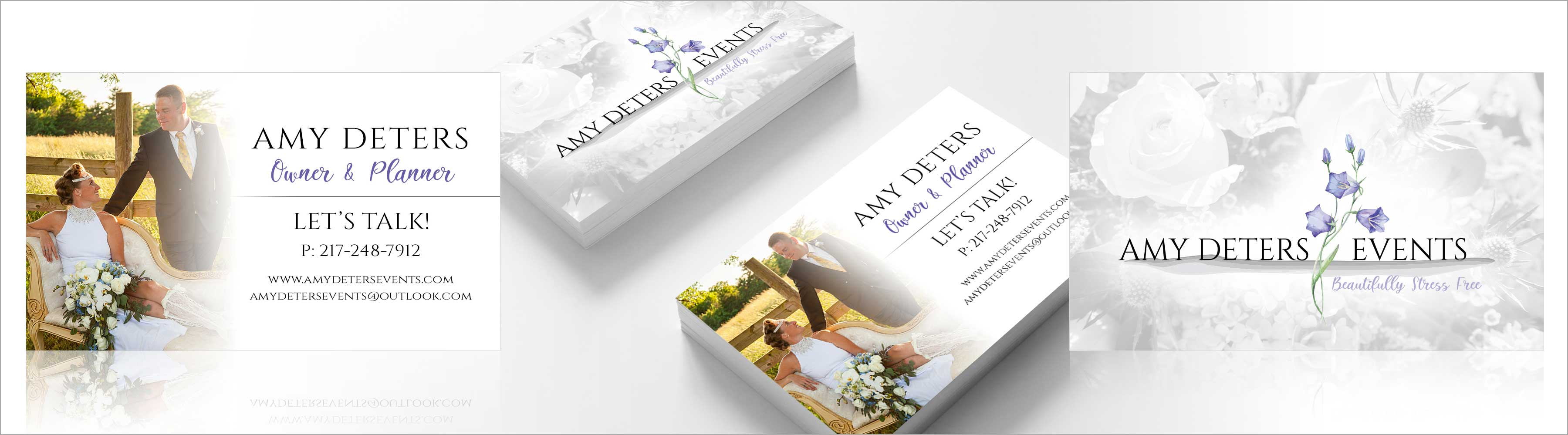 Amy Deters Events Business Card Design