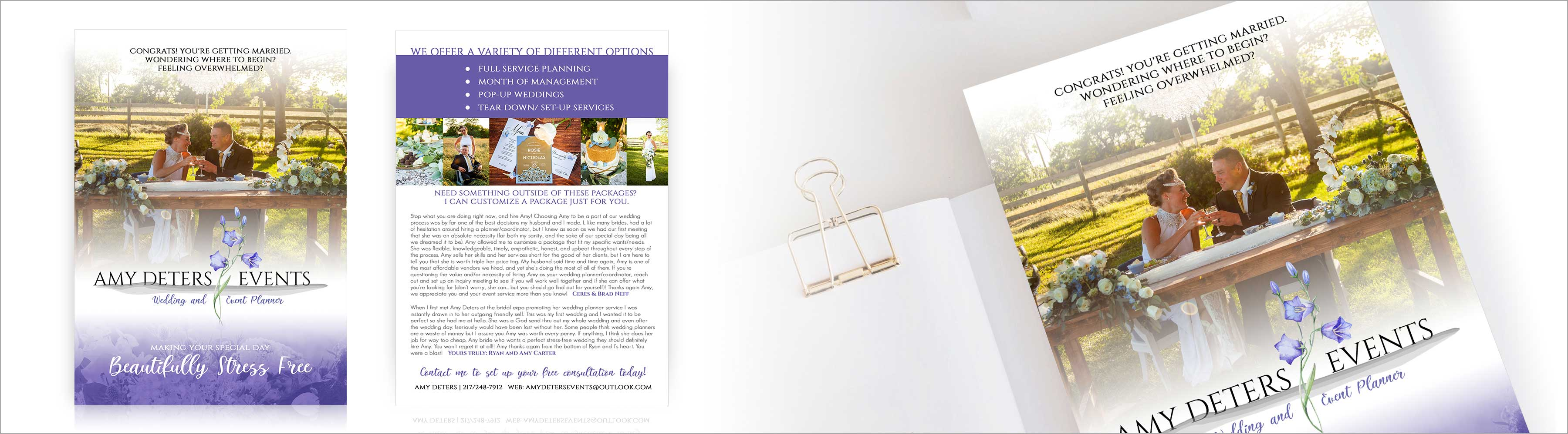 Amy Deters Events Rackcard Design