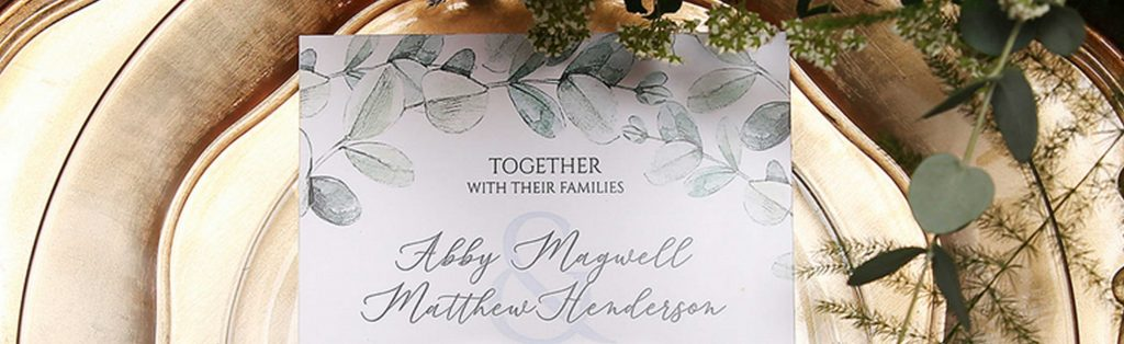 Professionally Printed Wedding Invitations