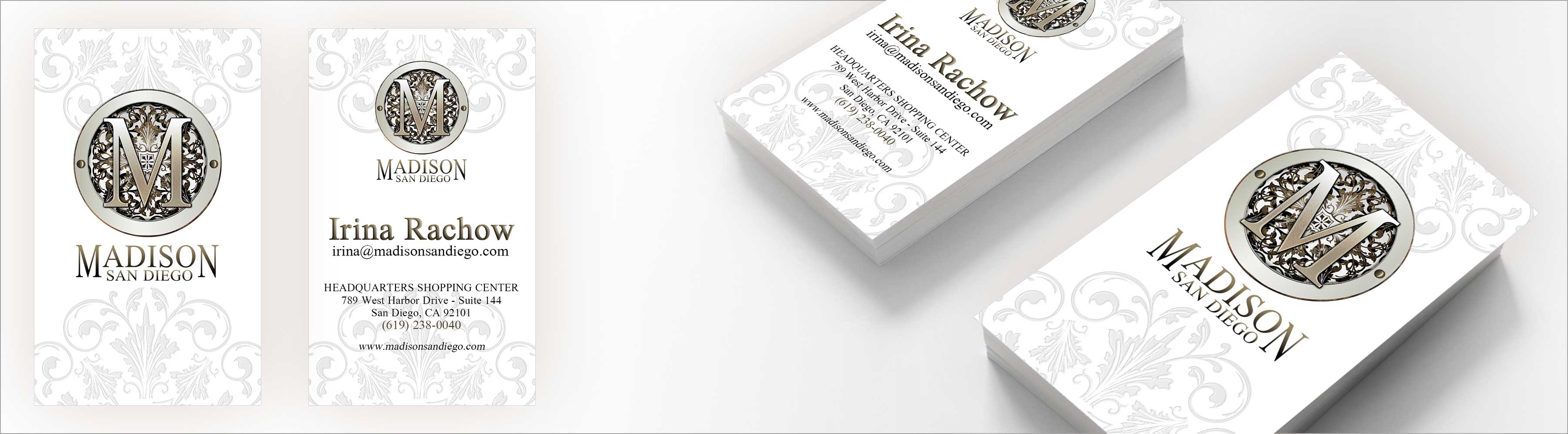Madison San Diego Business Card Design