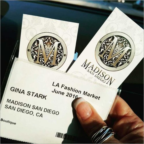 Madison San Diego Business Cards at a tradeshow