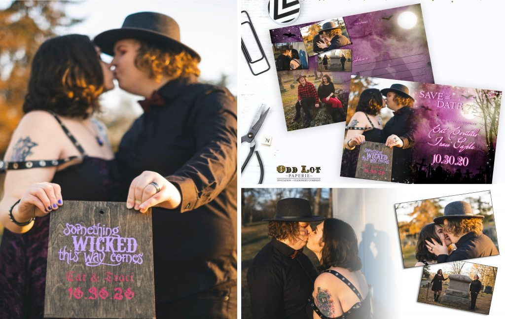 Halloween Wedding Photo Collage